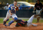 Sports Photographer of the Year: Runner UpScott Muthersbaugh, Perfecta VisualsPost 63 catcher Jacob Adkins dives for the ball as Post 81\'s Derek Bolhuis scores during the American Legion baseball game at Thomas Zachary field in Graham, N.C. on Thursday, June 26, 2014.