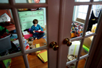 Third Place | FeatureGrace Beaham, The Post and CourierEthen Richardson creates art projects inside his play room that was crewted by his mother Brandy Richardson on the first floor of the his house so that she could keep an close eye on him due to how sick he can become from his brain tumor. Creating and building keeps him busy during the days he feels well enough to get out of bed.