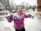 Honorable Mention I FeatureMykal McEldowney, The Greenville NewsKimberly Villalba, 9, reacts after getting hit with a snowball as she plays with her friends at Cambridge Apartments on 23rd Street in Winston-Salem Tuesday, January 28, 2014.