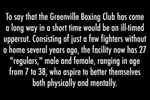 First Place | Multiple PhotosMykal McEldowney, The Greenville NewsGreenville Boxing ClubJudge's Comments: We think this was beautifully shot. It shows that the photographer took time to get to know the people in the club. There is also a strong variety of angles and good lens choices. Well edited and sequenced to provide a clear narrative.
