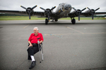 Third Place | PortraitAndrew Craft, The Fayetteville ObserverWWII veteran Oscar Smith sits in from of a B-17 Monday, Sept. 15, 2014, at Sanford/Lee County Airport.