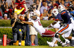 First Place | SportsGerry Melendez, The StateJudges Comments: Photographer caught peak action at the right moment with a good expression.South Carolina Gamecocks wide receiver Shaq Roland (4) reaches over the goal line scoring a touchdown on a catch in the first quarter of their game against Auburn at Jordan–Hare Stadium in Auburn, AL, Saturday, October 25, 2014.