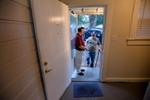 Second Place | Multiple PhotosMykal McEldowney, The Greenville NewsSteve Payne makes his way into his new home on Friday, October 3, 2014. With help from the United Housing Connections' Restore A Home project, the Payne's are leaving a decade of homelessness behind them.