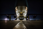 Second Place | General  NewsAndrew Craft, The Fayetteville ObserverA CH-47 Chinook is slowly pulled into the cargo hold of a C-17 Friday, Nov. 28, 2014, at Bagram Airfield in Afghanistan for shipment back to the U.S.