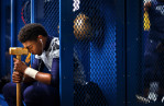 First Place | PortraitJerry Wolford, News & RecordReidsville's defensive lineman Denzel Myers contemplates the night's game alone at his locker before his game. The Rams fell to Shelby in the third round of the NCHSAA 2-A playoffs, on Friday, November 28, 2014, in Reidsville, N.C.