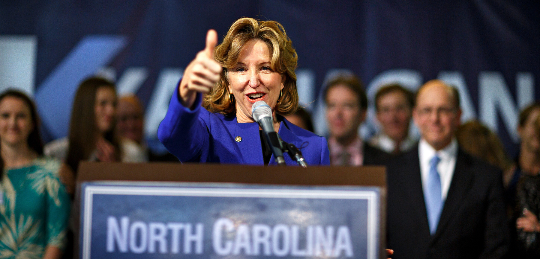 Third Place | Multiple PhotosJerry Wolford, News & RecordSenator Kay Hagan concedes the race to Thom TIllis and applauds her campaign staff in attendance in the plaza of the Greensboro Coliseum on Tuesday, November 4, 2014, in Greensboro, N.C.