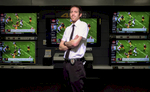Second Place | PortraitAndrew Dye, Winston-Salem JournalMatt Taylor, Geek Squad Leader with Best Buy, poses for a portrait in front of television display on Friday, Jan. 30, 2015 in Winston-Salem, N.C. Television sales increase during the lead up to the Superbowl.
