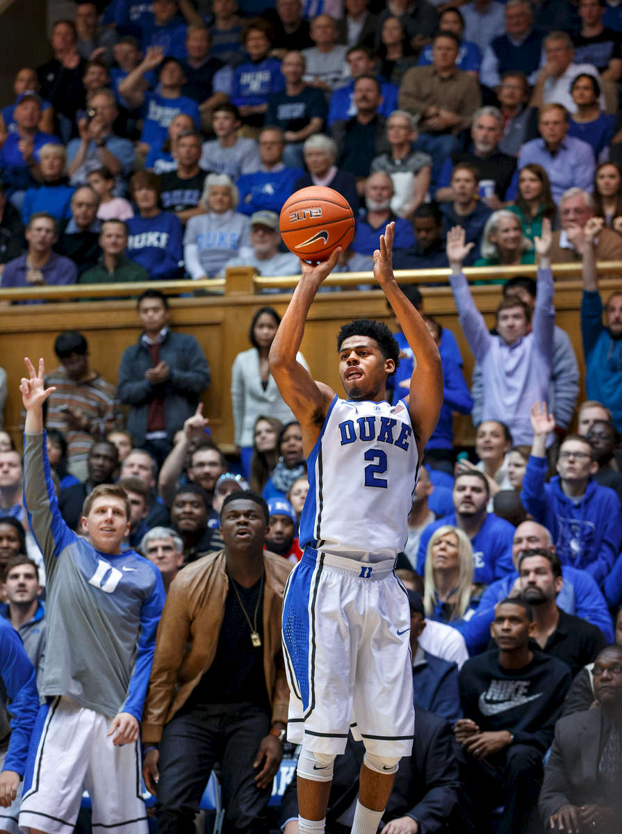 Second Place | Multiple PhotosJerry Wolford, News & RecordDuke\'s Quinn Cook #2 shoots the ball. ACC Basketball action with Pittsburgh at Duke in Cameron Indoor Stadium on Monday, January 19, 2015, in Durham, N.C.