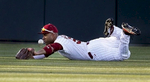 Honorable Mention I SportsGerry Melendez, The StateSouth Carolina\'s Patrick Harrington can\'t come up with the catch after diving on the play in the fifth inning during the season opener against College of Charleston at Carolina Stadium, Friday, February 13, 2015.