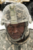 "Honorable Mention I PortraitLewis PerkinsCommand Sargent Major LaDerek Green is focused on tasking his soldiers of the 330th Movement Control Battalion during a snow covered field training exercise at Fort Bragg, Feb. 24. During the FTX, Soldiers had to set up an outpost, feeding area, sleeping quarters, and fend an ""enemy"" attack while getting back to basic warrior skills."