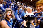 Honorable Mention I Multiple PhotosMark Dolejs, Daily DispatchDuke students taunt the Tar Heels before the start of their game in their game at Cameron Indoor Stadium.