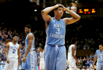 Honorable Mention I Multiple PhotosMark Dolejs, Daily DispatchTar Heels forward Kennedy Meeks (3) reacts in the final seconds of overtime in their game against the Duke Blue Devils at Cameron Indoor Stadium.