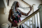 Second Place | PortraitJerry Wolford, News & RecordBranden Pettiway displays his hair extensions created from newspapers. Pettiway says he spent two days creating the hair extensions with a combination of newspapers including the New York Times that his uncle donated to the project.