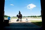 Third Place | Multiple PhotosSara Corce, The PilotDiane Ritz and Brio leave for the competition ring during the Dressage in the Sandhills Horse Show at the Pinehurst Harness Track on Friday, May 8, 2015 in Pinehurst, North Carolina.