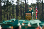 Second Place | Multiple PhotosSara Corce, The PilotSalutatorian Sam Kruyer addresses the graduates during high school graduation at Pinecrest High School on Saturday, June 13, 2015 in Southern Pines, North Carolina.