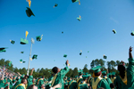Second Place | Multiple PhotosSara Corce, The PilotGraduates throw their caps at the end of the ceremony during high school graduation at Pinecrest High School on Saturday, June 13, 2015 in Southern Pines, North Carolina.