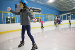 Third Place | Multiple PhotosJoe Pellegrino, The Daily ReflectorVictoria Hatoum skates towards the window guard during a lesson at the Carolina Ice Zone on Monday.