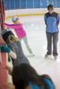 Third Place | Multiple PhotosJoe Pellegrino, The Daily ReflectorOwner of Carolina Ice Zone Stephanie Bardykin instructs a children\'s class on Monday.