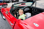 Second Place | FeatureJoe Pellegrino, The Daily ReflectorShane Cowers (7) pretends to drive a Corvette Stingray on Monday at Vidant EastCare.
