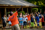 Second Place | Multiple PhotosAndrew Craft, The Fayetteville ObserverCounselors get the camper pumped up at the beginning of the day Monday, July 20, 2015, at Camp Rockfish.