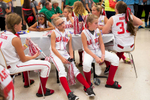 Honorable Mention I FeatureSara Corce, The PilotFrom left to right, Kirsten Collier, Chloe Davidson, and Jenna Manning wait for their turn in the food line in the cafeteria at Pinecrest High School before the opening ceremony of the 2015 Dixie Softball World Series on Friday, August 7, 2015 in Southern Pines, North Carolina.