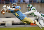Honorable Mention I SportsMykal McEldowney, The Greenville NewsDefended by Easley's Ta'von Hicks (22), Daniel's Carter Groomes (8) cannot pull in the pass by Daniel's Ben Batson (9) on Friday, August 28, 2015.