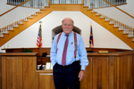 Second Place | PortraitSara Corce, The PilotJames R. Van Camp, of Van Camp, Meacham & Newman Pinehurst Law Firm, stands for a portrait in the lobby of his office building on Friday, August 14, 2015 in Pinehurst, North Carolina. Van Camp has been practicing law for fifty years.
