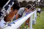 Third Place | Multiple PhotosMykal McEldowney, The Greenville News{quote}It's hot, but we man up, get some water and keep going,{quote} Byrnes drum major Matthew Powell said. {quote}It's tough, but we want to be the champions, and champions are made of practice.{quote} During practice members of the Byrnes High School Rebels marching band grab a drink of water on Tuesday, August 25, 2015.