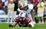 First Place | SportsMykal McEldowney, The Greenville NewsUSC wide receiver D.J. Neal (3) cannot catch up to a pass against UCF at Williams-Brice Stadium in Columbia on Saturday, September 26, 2015.