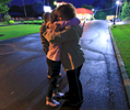 First Place | Multiple PhotosKen Ruinard, Anderson Independent MailAngie Hammond (left) gets a hug from Kathy Williams, both of Seneca, before a candlelight vigil for her son Zachary Hammond, on the side of U.S. 123 in Seneca. While Hammond lost her son nine weeks earlier, Williams said she lost her son a year ago and wanted to share her condolences.