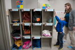 Second Place | Multiple PhotosSara Corce, The PilotRoberto Villa Hernandez puts his name tag on the attendance board at HOPE Academy, a recently opened pre-school, on Wednesday, September 16, 2015 in Robbins, North Carolina.