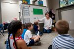 Second Place | Multiple PhotosSara Corce, The PilotTeacher Julie Pitts speaks to her students as they sit in a circle at HOPE Academy, a recently opened pre-school, on Wednesday, September 16, 2015 in Robbins, North Carolina.