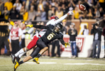 Second Place | SportsAndrew Dye, Winston-Salem JournalAppalachian State sophomore wide receiver Shaedon Meadors (6) can't make the reception under coverage from Arkansas State sophomore defensive back Nehemiah Wagner (2) on Thursday, November 5, 2015 in Boone, N.C.