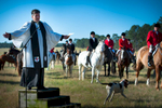 Second Place | Multiple PhotosSara Corce, The PilotReverend John Gordon Talk, IV shares the blessings during the 2015 Blessing of the Hounds and Thanksgiving Day Moore County Hounds Annual Opening meet at Buchan Field off North May Street on November 26, 2015 in Southern Pines, North Carolina.