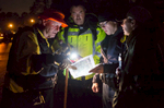 Third Place | Spot NewsJoe Pellegrino, The Daily ReflectorA search party organizes with a map to search for Maragret Lee Clayton in the woods near her residence on October 27, 2015.