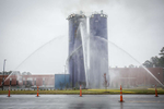 Second Place | Spot NewsJoe Pellegrino, The Daily ReflectorConstant streams of water continue to be applied to a burning silo in Farmville on Dec. 7, 2015.