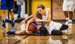 Second Place | SportsAndrew Dye, Winston-Salem JournalGlenn's Nadia Curry (1) and West Forsyth's Skyler Curran (21) scramble over a loose ball on Wednesday, December 16, 2015 in Clemmons, N.C.