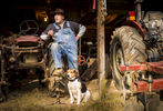 Second Place | PortraitAndrew Dye, Winston-Salem JournalTerry Crater and his dog, Mosby, on the Crater farm on Friday, December 18, 2015 in Winston-Salem, N.C. Crater's farm has been in his family for almost 150 years.