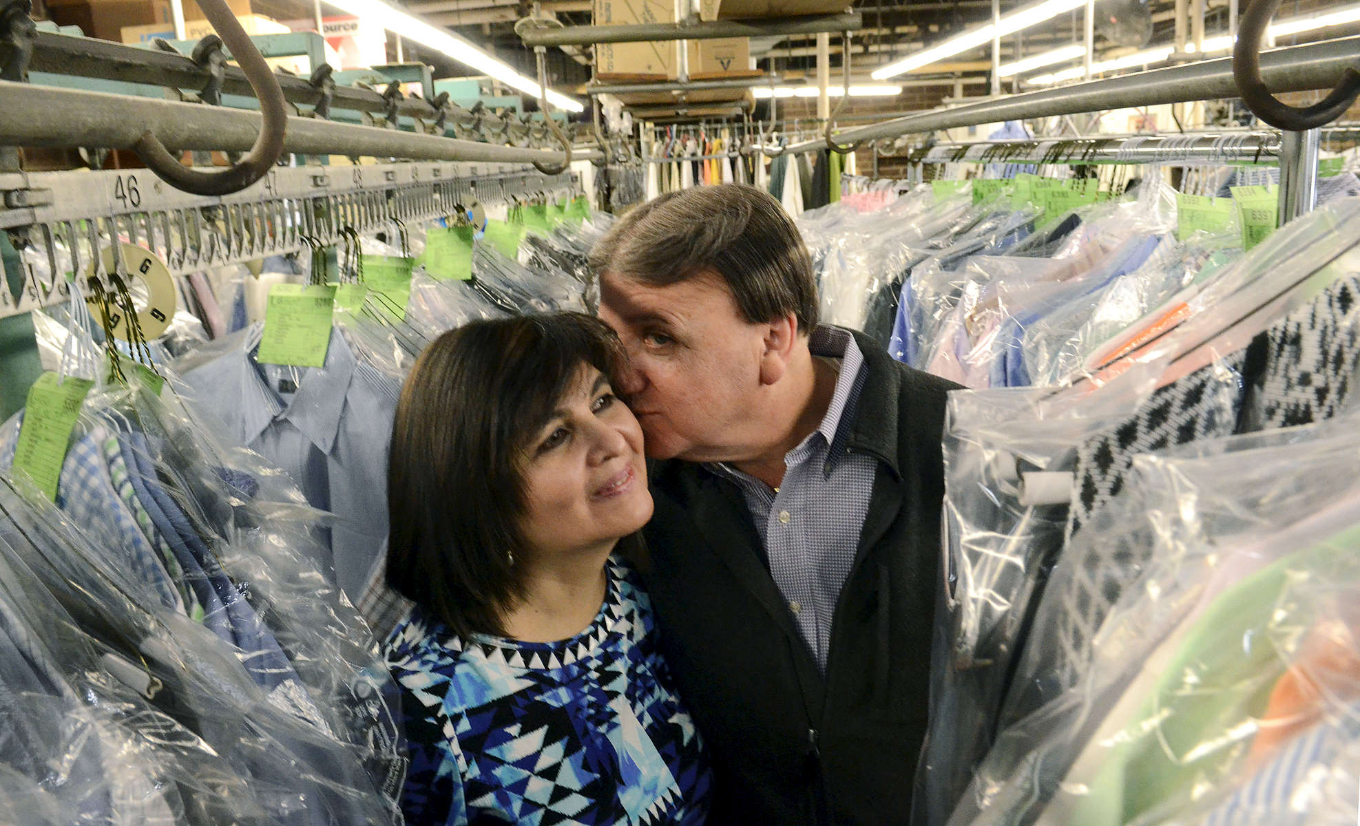 First Place | PortraitJohn D. Simmons, The Charlotte ObserverXimena  and Robert Arroba, the owners of Carolina Cleaners on South Blvd., have been married since October 2005. they look forward to their tenth Valentine's Day together.