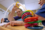 First Place | Multiple PhotosKen Ruinard, Anderson Independent MailDee Loner pushes a plastic ring during a physical therapy session at Brookdale Senior Living Solutions in Greenville.  Progress is slow, but is working for the former teacher wishing to recover from her brain aneurysm.