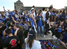 Second Place | Multiple PhotosMark Dolejs, Daily DispatchDuke students party and dance as they wait before the start of the Duke Blue Devils and North Carolina Tar Heels college basketball game at Cameron Indoor Stadium.