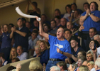Second Place | Multiple PhotosMark Dolejs, Daily DispatchLongtime Duke Blue Devils fan Herb Neubauer, also known as the Crazy Towel Guy, gets the fans into their game in the second half against the North Carolina Tar Heels at Cameron Indoor Stadium.
