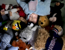 Third Place | Portrait Corey Lowenstein, News & Observer{quote}Sleeping Among Friends{quote} - Unable to part with a single stuffed animal at naptime, young Brady Morrison comforts himself with faux fur and the comfort of his {quote}friends{quote} before drifting off to sleep.