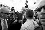 First Place | Feature Photo Story Al Drago, Elon UniversityRepublican presidential candidate Donald Trump speaks with reporters at a rally organized by Tea Party Patriots on Capitol Hill in Washington, Wednesday, Sept. 9, 2015, to oppose the Iran nuclear agreement.