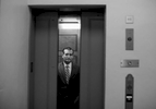 First Place | Feature Photo Story Al Drago, Elon UniversitySen. Ted Cruz, R-Texas, awaits for the elevator doors to close as he arrives in the basement of the Capitol, July 29, 2015.