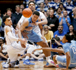 Second Place | Sports Photo StoryMark Dolejs, The Daily DispatchNorth Carolina's Kennedy Meeks (3) gets tangled up with Duke's Tyus Jones (5) and Jahlil Okafor (15) as they go for a loose ball near the end of regulation play.