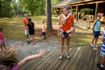 Photographer of the Year Andrew Craft, The Fayetteville ObserverCamper Gehrum Crump hangs onto counselor Bri Cross' back as the day campers arrive Monday, July 20, 2015, at Camp Rockfish in Hope Mills, N.C.