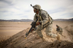 Photographer of the Year Andrew Craft, The Fayetteville ObserverSoldiers go after mock enemy forces as they protect the airfield during a joint forcible entry exercise on Thursday, Aug. 6, 2015 at the U.S. Army's National Training Center at Fort Irwin, Ca.