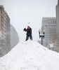 POY: Runner UpJill Knigt, The News & ObserverSteve Wintermeier golfs from the top of a snow mound at the corner of Boylston Street and Dartmouth Street in downtown Boston, Sunday, Feb. 15, 2015. A blizzard warning was in effect for large parts of New England, making the storm the fourth of it's kind in less than a month and leaving behind more than 75 inches of snow.