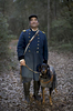 POY: Runner UpJill Knigt, The News & ObserverA blind reenactor with a guide dog following their battle scenario during Fort Fisher's 150th Anniversary on Saturday, January 17, 2015 in Kure Beach, N.C.